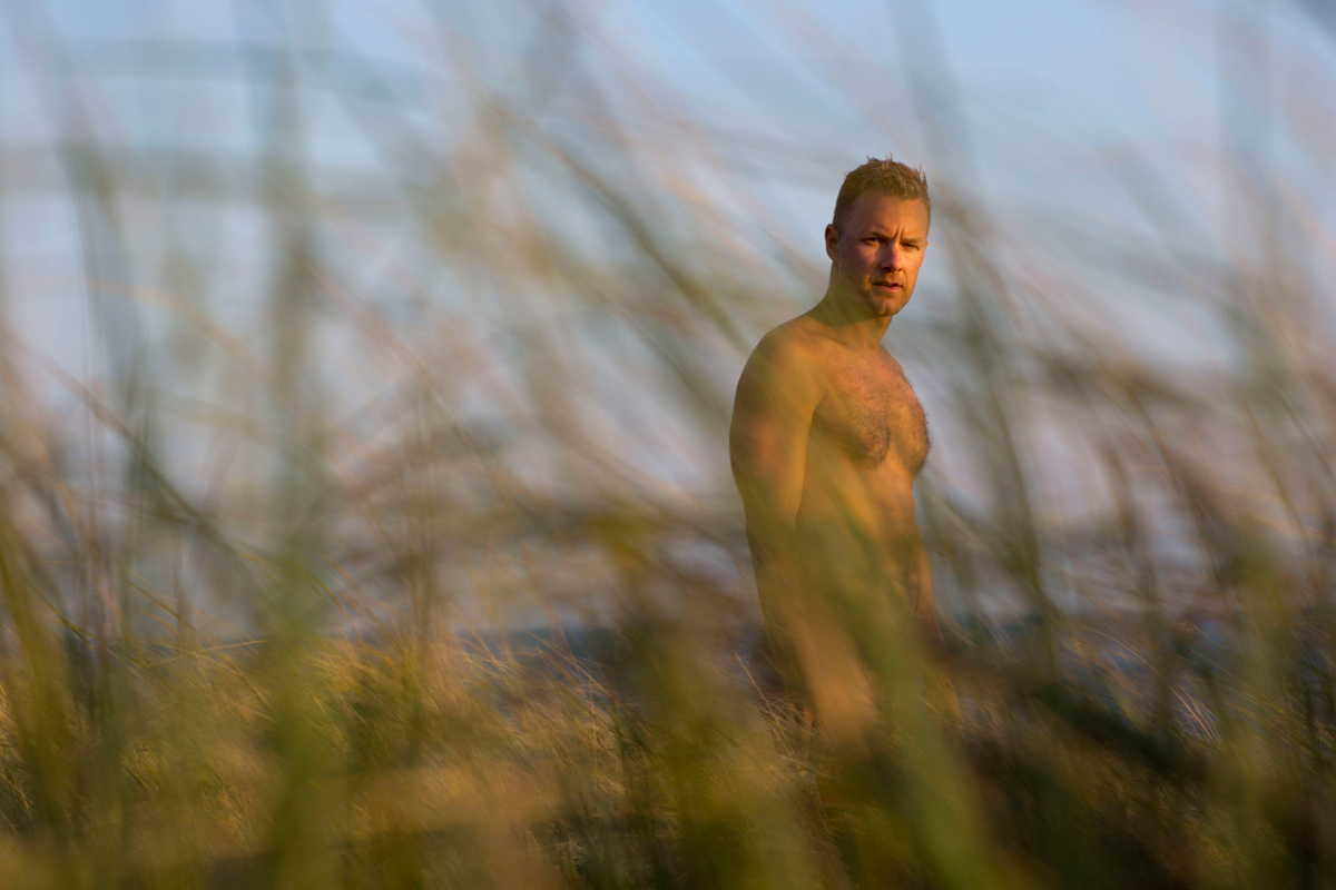 Self-portrait in the salt marsh, Cape Cod, September 2012