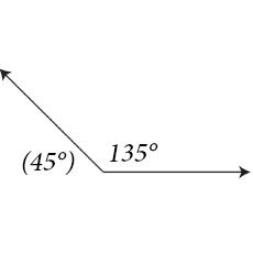 45-135 degrees