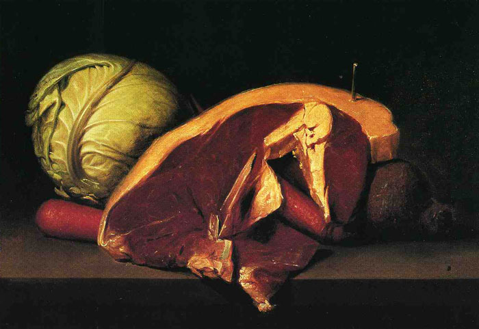 Still Life with Steak painting by Peale