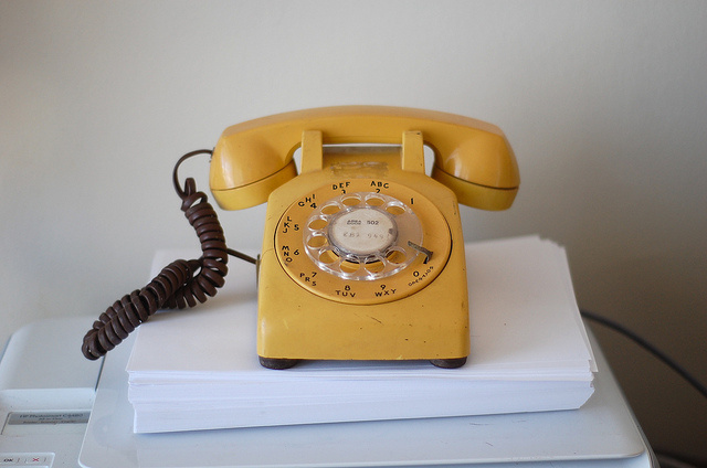 Yellow Telephone by Billy Brown on Flickr