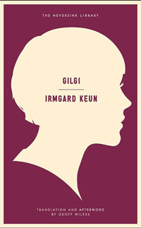 Gigli cover art. A white profile of a woman's face against a plum background