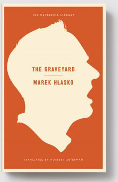 The Graveyard cover art. A white profile of a man's face against an orange background