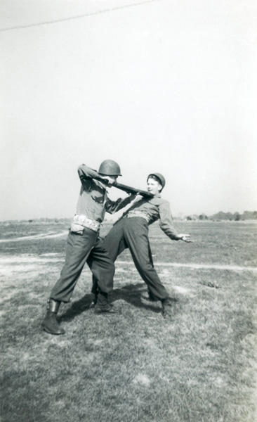 "Combat ""play"" in Korea, c 1950."