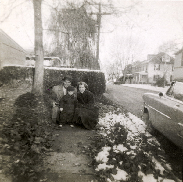 My parents and me, Millersville, PA, c. 1955.
