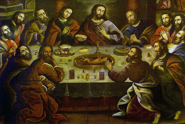 The Last Supper by Marcos Zapata, in the Cuzco Cathedral