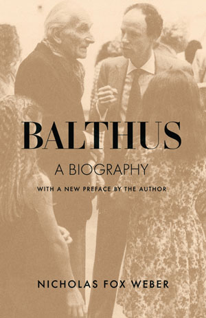 Balthus book jacket; two men talking