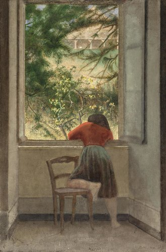Girl at a Window, 1955 (Painting)