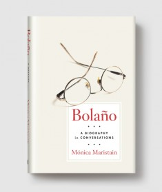 Bolano book jacket; glasses