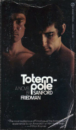 Totempole paperback. Two men standing in darkness