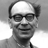 black and white photo of Philip Larkin