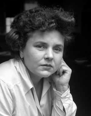 black and white photo of Elizabeth Bishop