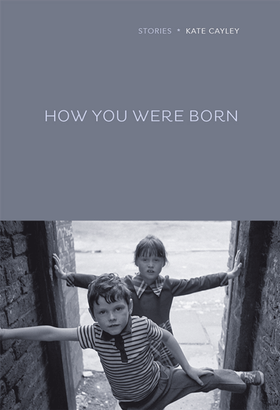How You Were Born cover art. A black-and-white photograph of two children standing in a dooway