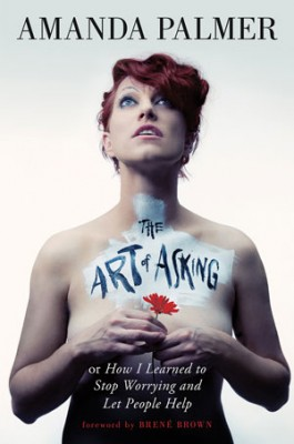 The Art of Asking book jacket; nude woman holding flower