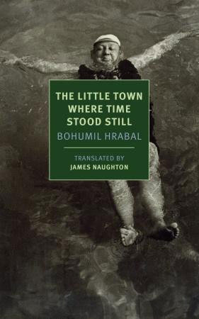 The Little Town Where Time Stood Still cover art. A man floating on his back in water