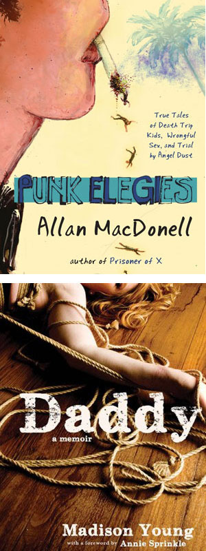 Punk Elegies and Daddy book jackets