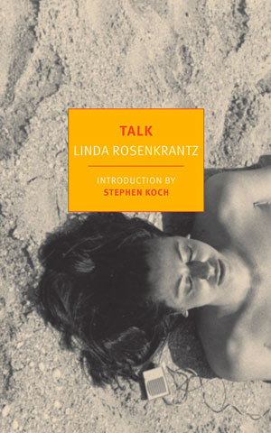 Talk cover art. A woman lies on sand