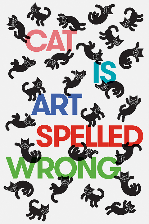 Cat is art spelled