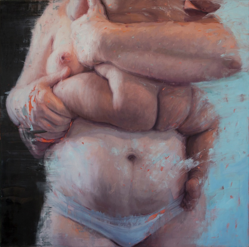 Mother Child (KA2), 2014 Oil on Canvas 60 x 60""