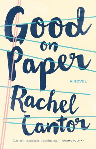 Good on Paper cover art. Dark blue text over a piece of notebook paper with distorted lines running across the page