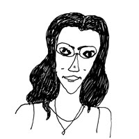 Sketch of Tahneer Oksman