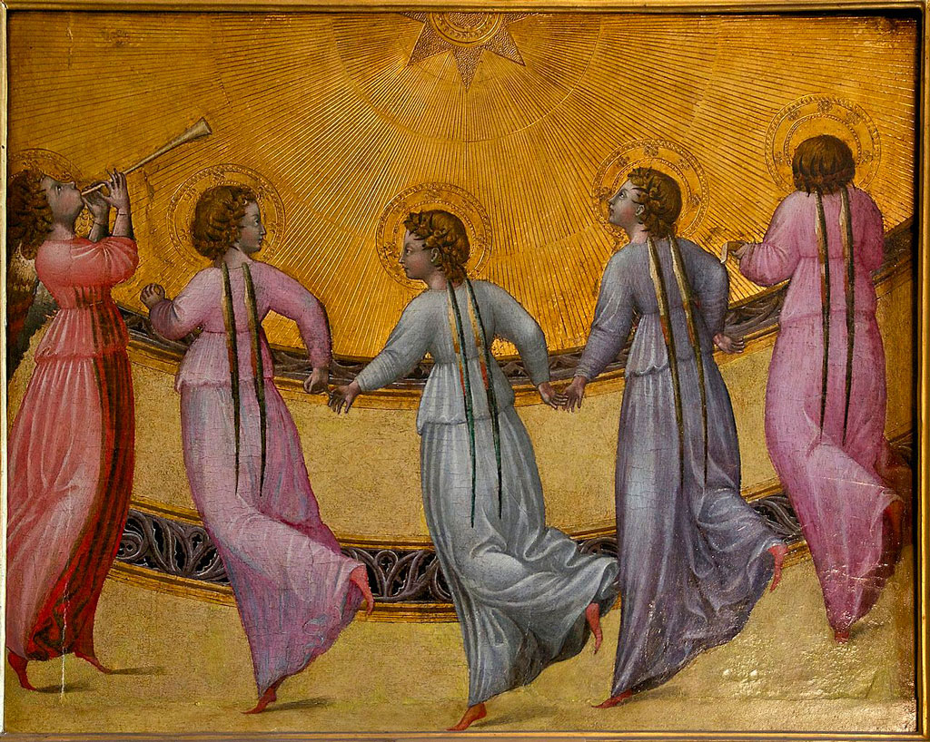 "Giovanni de Paolo, ""Five Dancing Angels"" c. 1436"