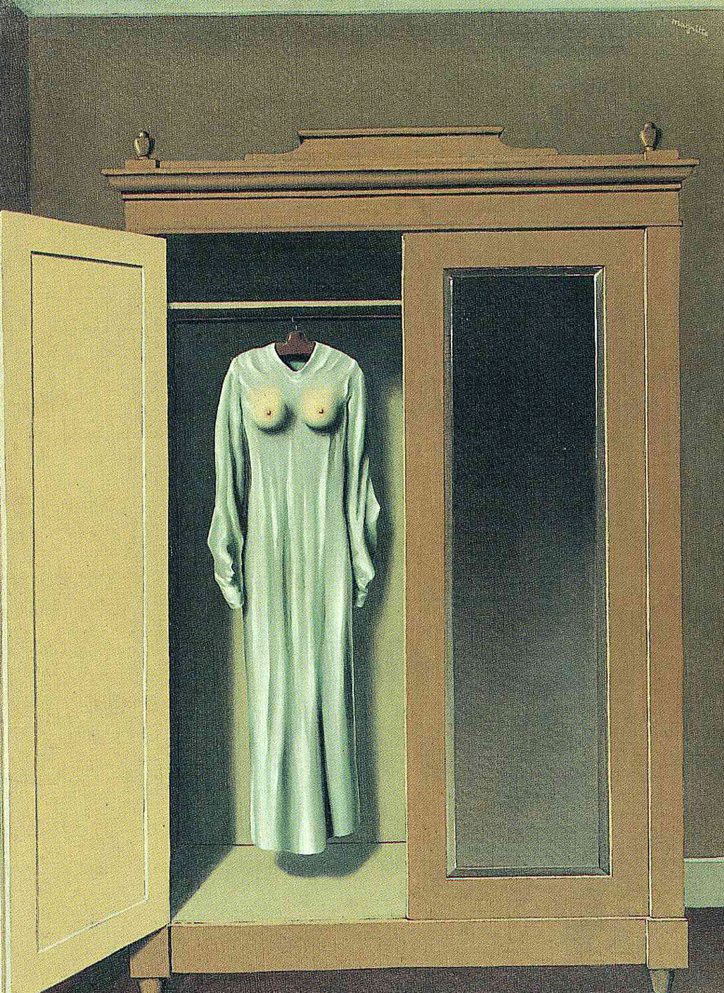 Homage to Mack Sennett by René Magritte, 1937. Oil on canvas. Collection of the City of Louviere (La Louviere, Belgium).