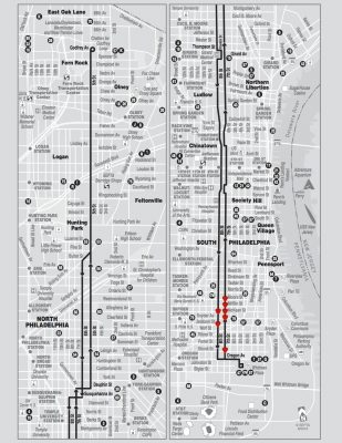 The 47 Bus Route and Mural Locations