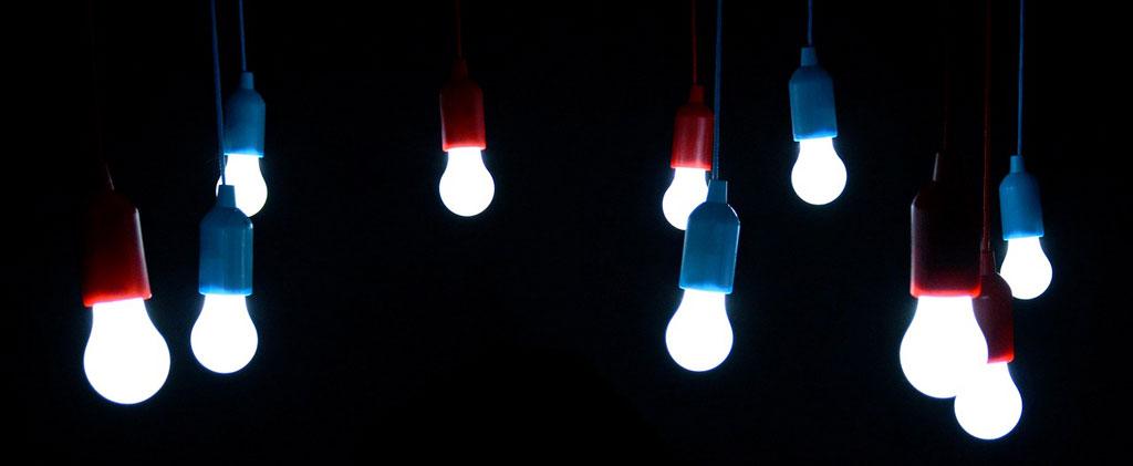 Multicolored lightbulbs