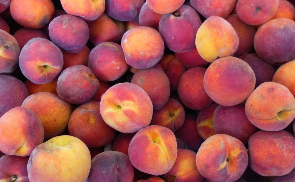Dozens of peaches