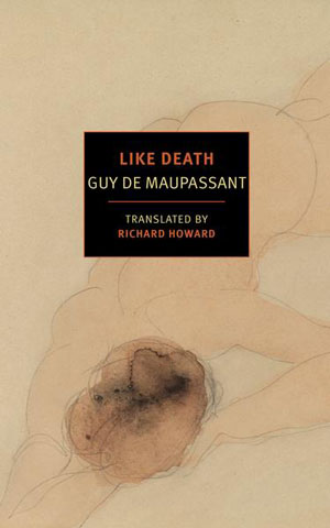 Like Death cover art. Abstract drawing of a nude man lying face down