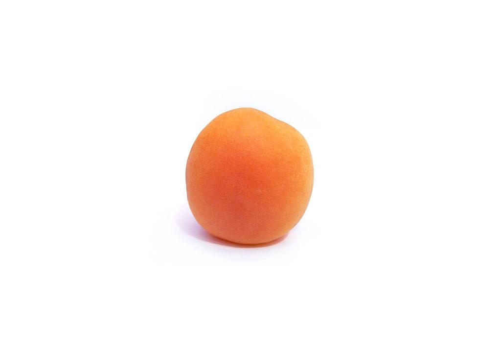 Bright orange apricot