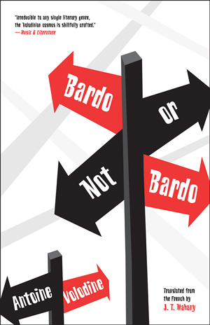 Bardo or Not Bardo cover art. A street sign with the words of the title on arrows pointing in different directions