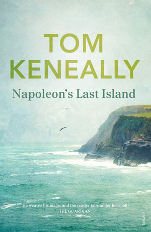 Napoleon's Last Island cover art. The edge of an island against the sea