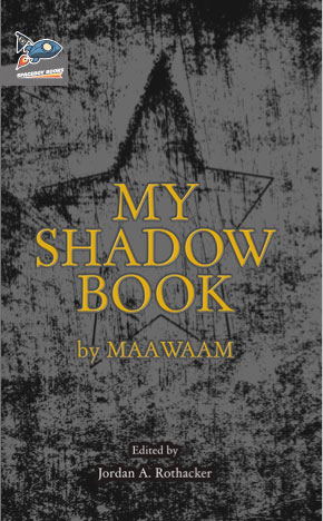 My Shadow Book cover art. Golden text over a black-and-grey star