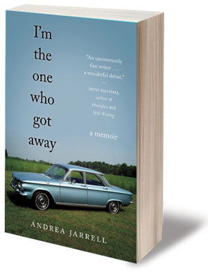 I'm the one who got away book jacket; blue car parked in field