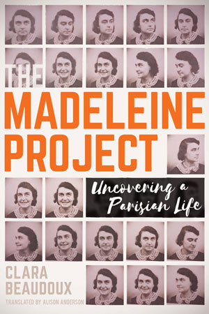 The Madeline Project book cover; photos of woman