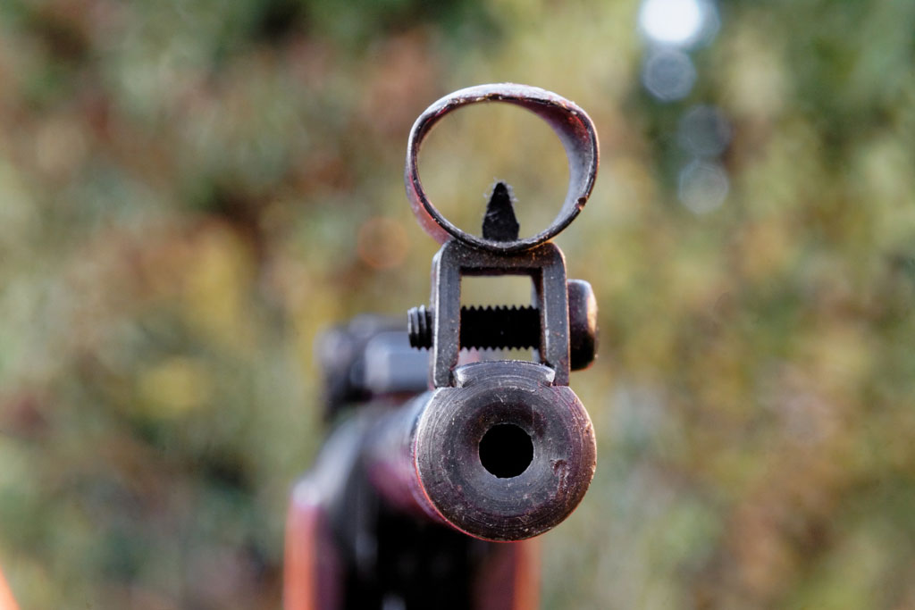 Close-up of a rusty air rifle