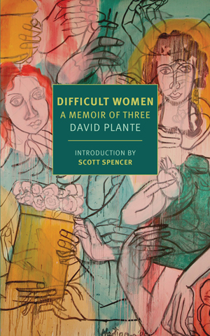 Difficult Women book jacket; sketch images of women