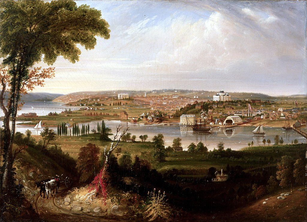 City of Washington from Beyond the Navy Yard by George Cooke (Painting, 1833)