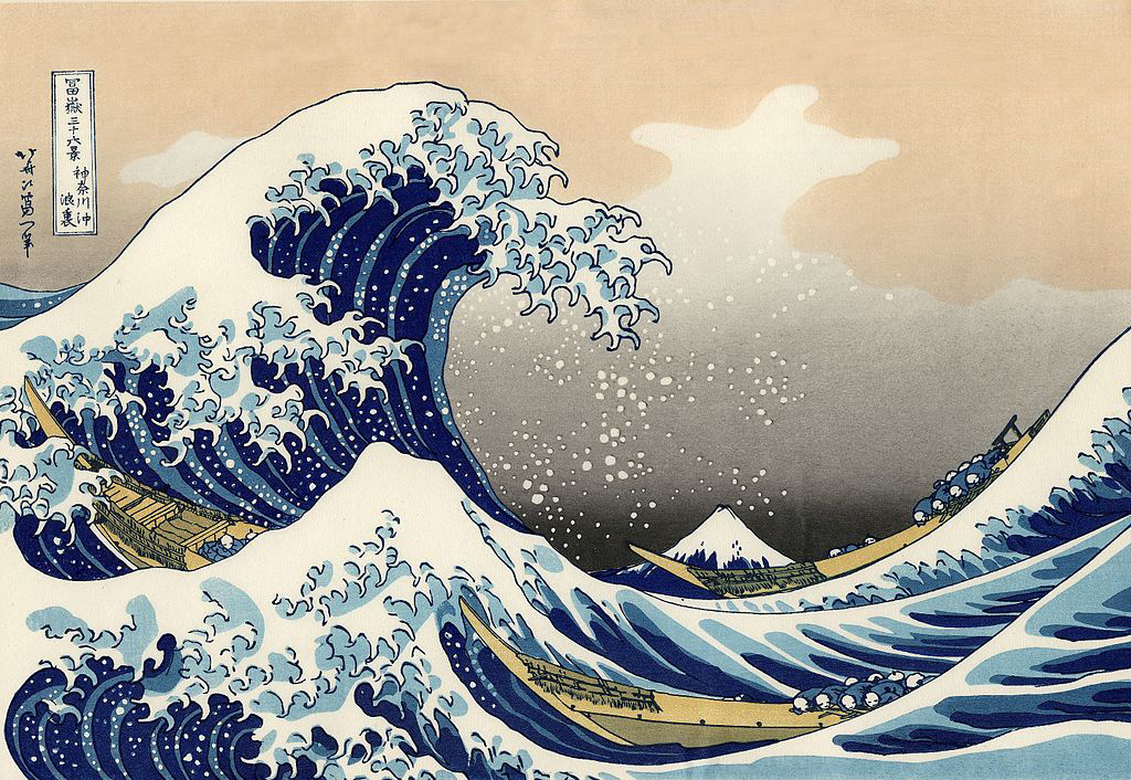"""The Great Wave off Kanagawa"" print by Hokusai"