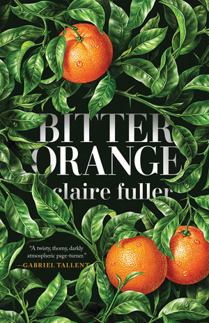 Bitter Orange cover art. Three oranges amongst green leaves