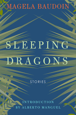 Sleeping Dragons cover art. Two thorny plants against a blue background