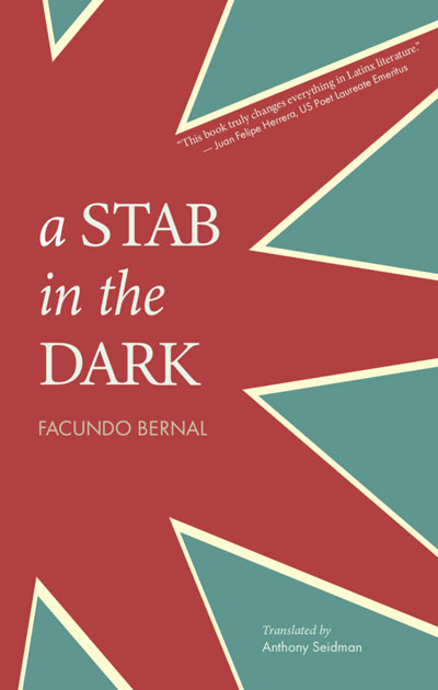 a STAB in the DARK book jacket; red star against teal blue background