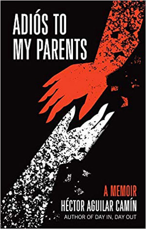 Adios to my Parent book jacket; red and white hands reaching for each other