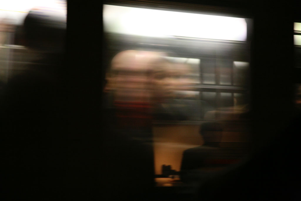 Blurry subway