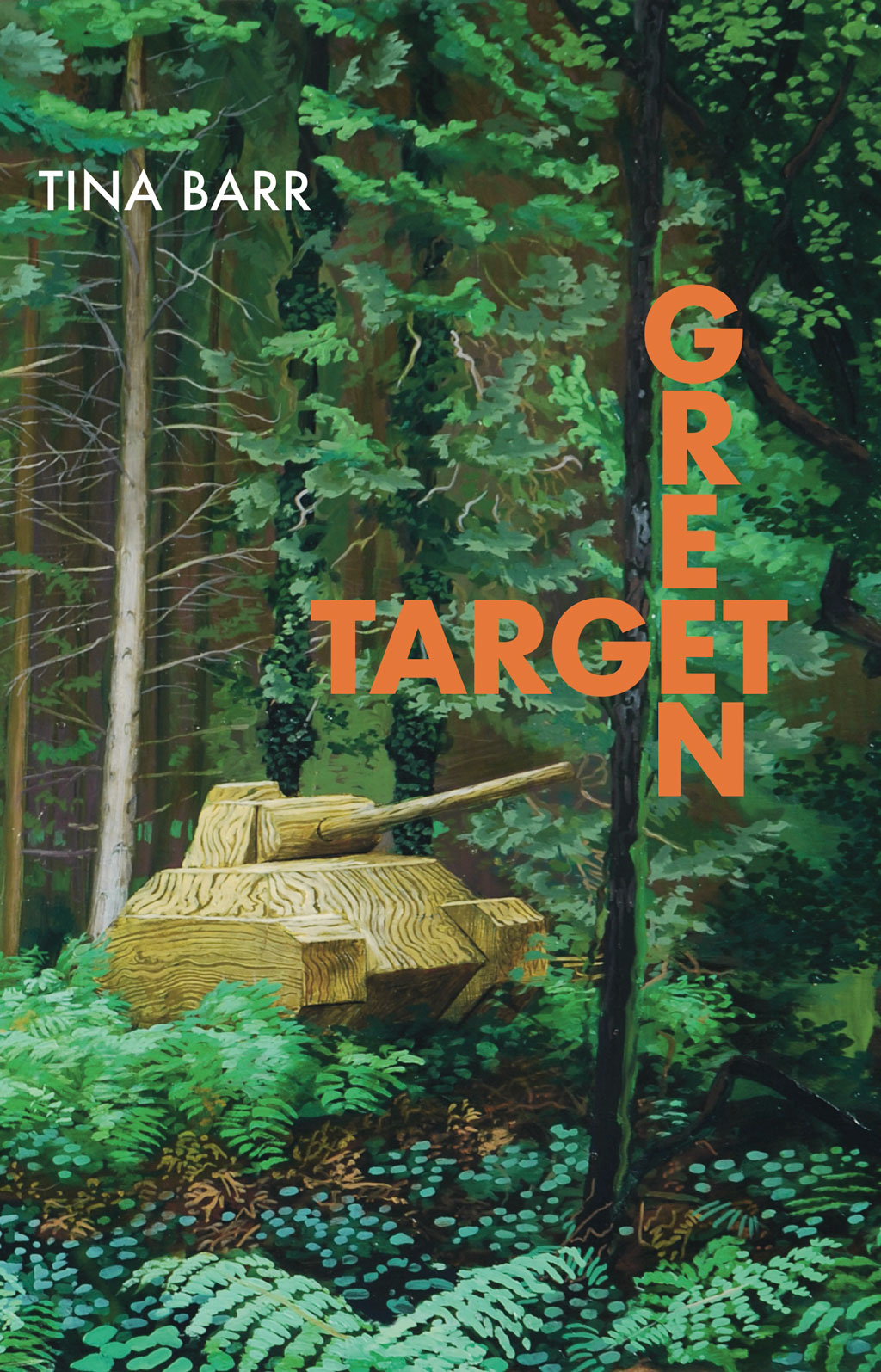 Jacket cover for GREEN TARGET; wooden tank in green forrest