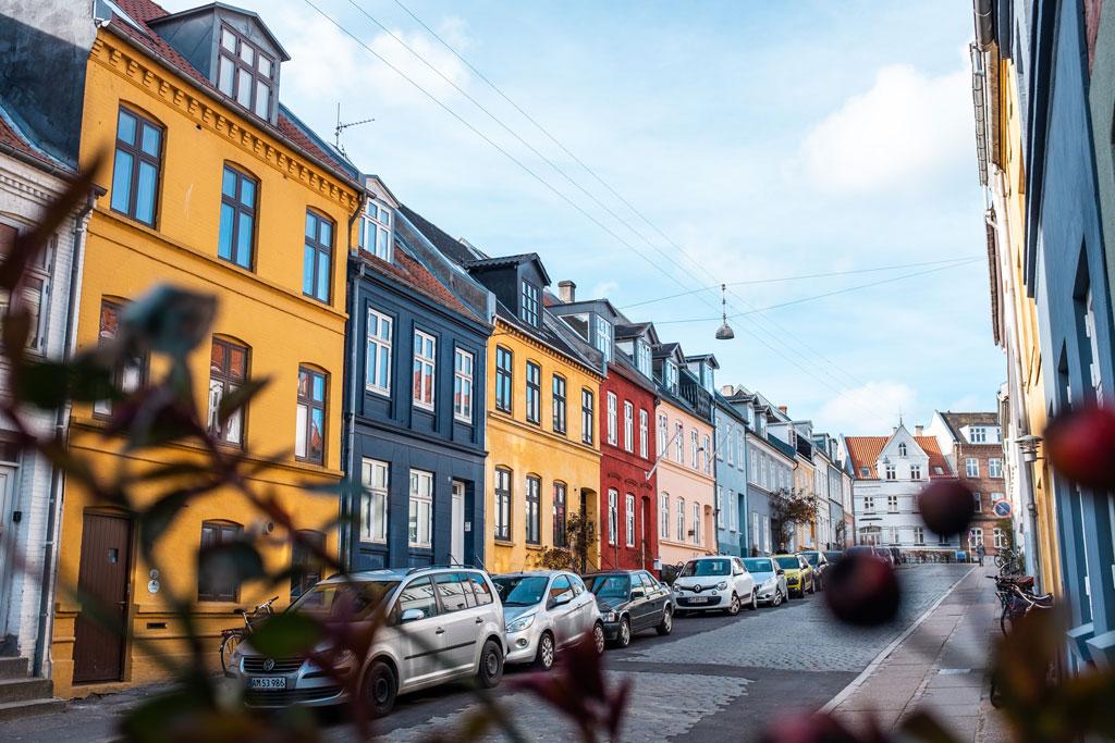 Houses in Aarhus, Denmark