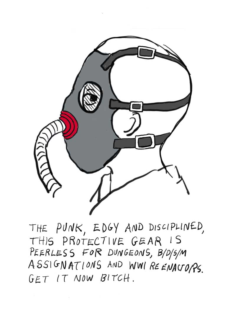 Cartoon image of facemask