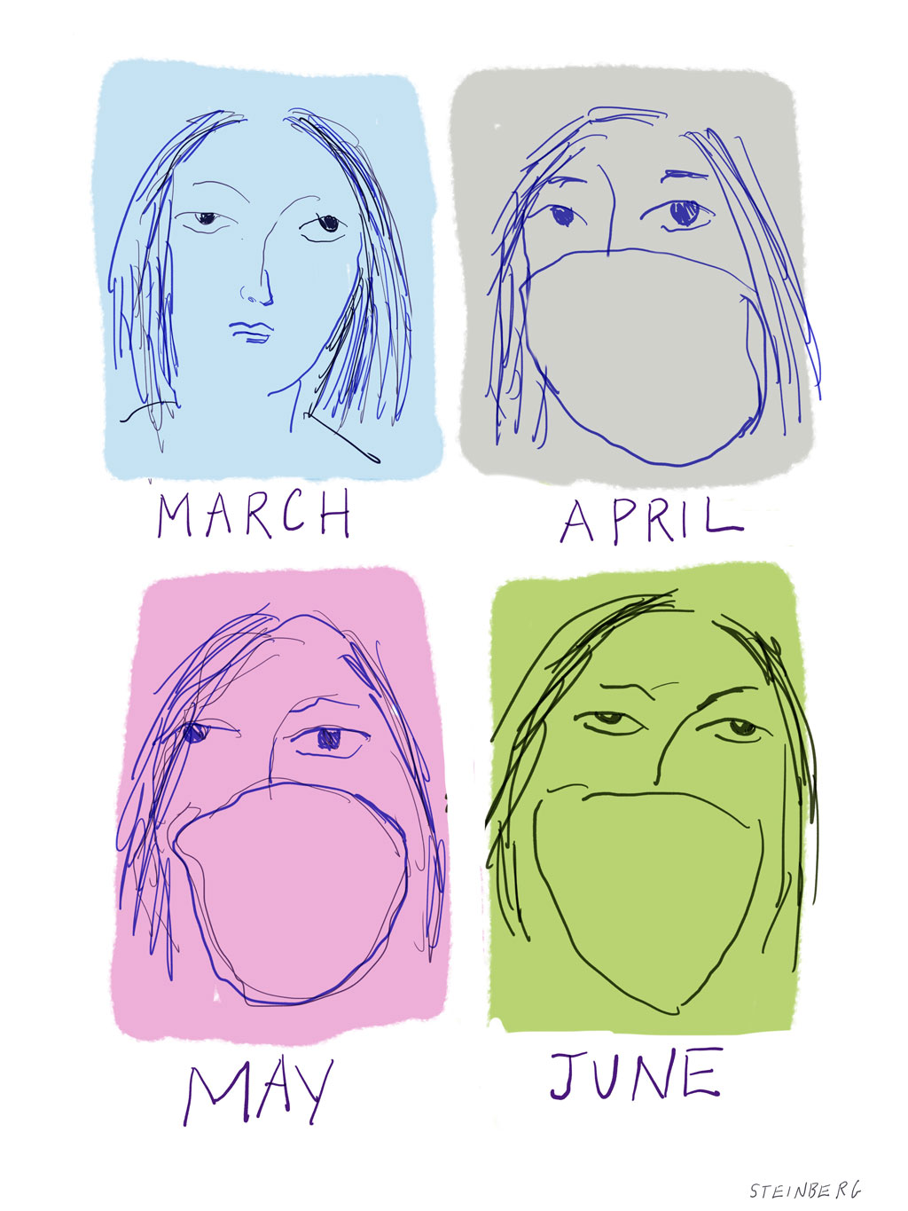 March April May June