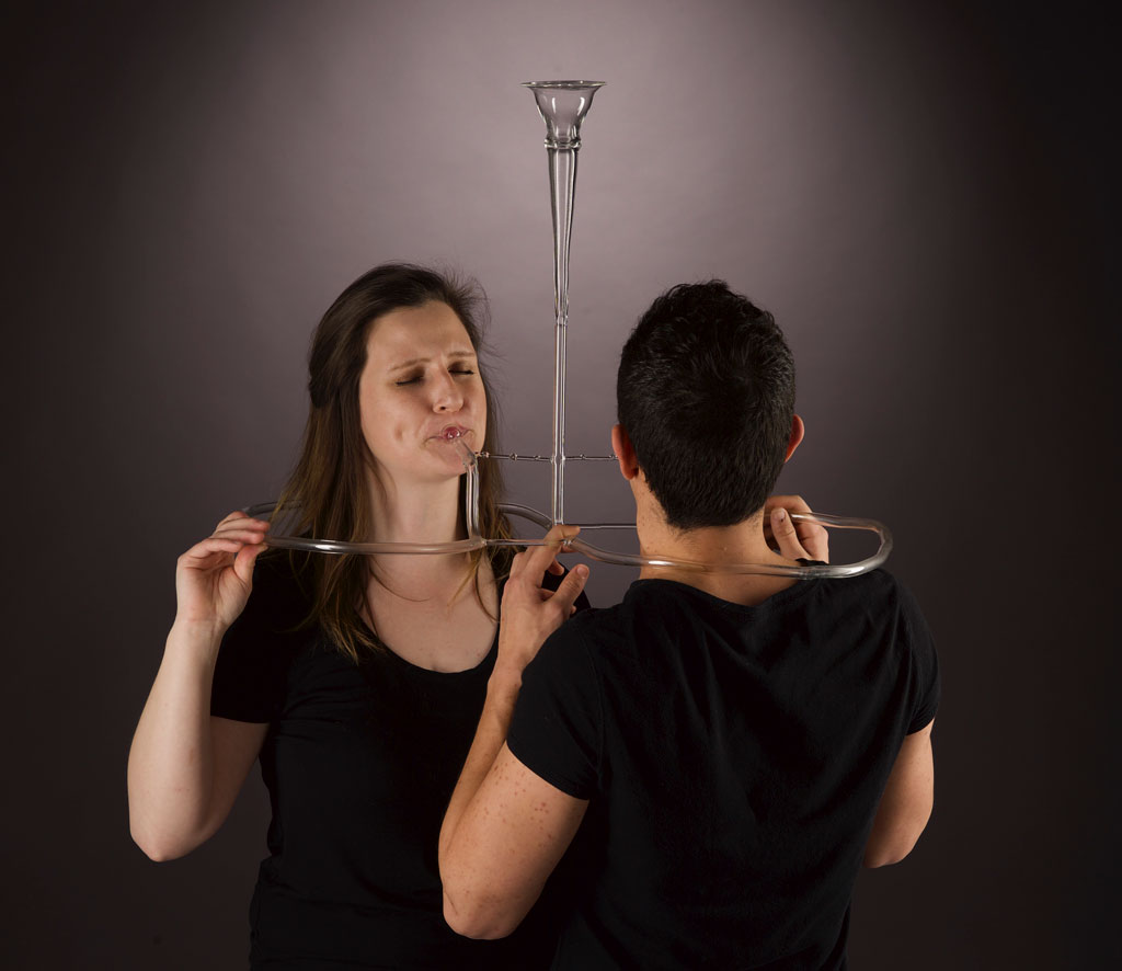 Madeline Rile smith plays glass duo instrument